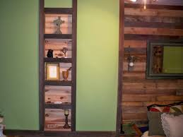 Barnwood Wall Shelves Shelves In Between Two Wall Studs Trim Is Old Barn Wood The Back