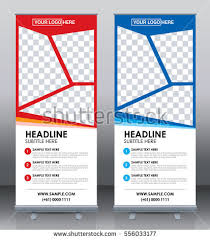 free printable vertical banner template roll banner template design brochure flyer stock photo photo