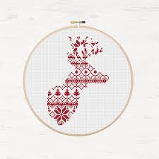 nordic cross stitch pattern reindeer pattern printable