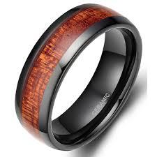 wedding ring men tigrade 8mm black wood grain ceramic ring men wedding band