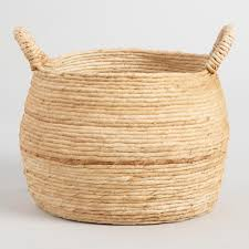 natural seagrass rose tote baskets world market