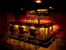 basement trendy bars for basements with three white glass hanging