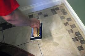 Tile Bathroom Wall by How To Install Bathroom Floor Tile How Tos Diy