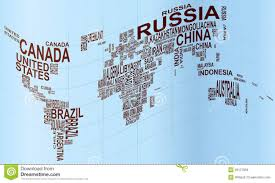 world map political with country names free world map with country name stock vector image 28127958