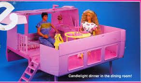 Barbie Dining Room Amazon Com Barbie Magical Motor Home Mattel 1990 Toys U0026 Games