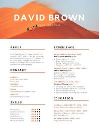 photography resume template lukex co