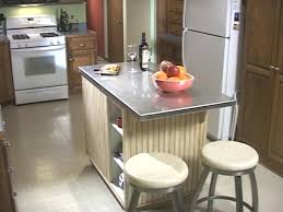 kitchen island stainless top kitchen island with drop leaf homcom portable rolling tile top