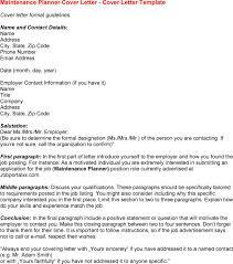 maintenance cover letter resume badak