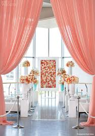 wedding backdrop canada coral curtains photography visual cravings coral weddings