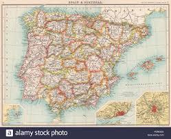 Madrid Spain Map Iberia Spain Showing Provinces U0026 Portugal Inset Gibraltar Lisbon