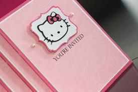 Hello Kitty Invitation Cards Scrappin U0027 2 Little Princesses Pretty Hello Kitty Invites