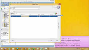 Create Table Oracle Sql 19 How To Create Table Using Oracle Sql Developer Youtube