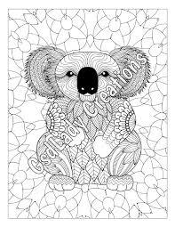 koala bear animal art color zentangle animal zentangle
