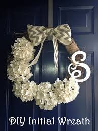 project diy initial wreath bless u0027er house