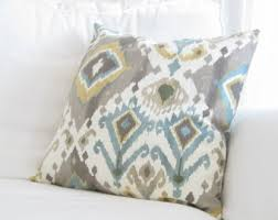blue and gray sofa pillows blue pillows floral pillows couch pillows decorative