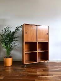 Mid Century Record Cabinet by Mid Century Danish Record Cabinet On Hairpin Legs Teak Habiib