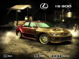 lexus is300 wallpaper nfs most wanted 2005 lexus is 300 by 850i on deviantart