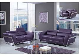 Plum Leather Sofa Charming Design Purple Living Room Furniture Chic Inspiration