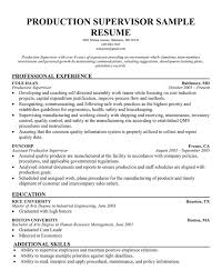 Foreman Resume Example by Sample Production Resume Haadyaooverbayresort Com