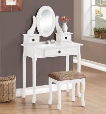 Makeup Vanity Table With Drawers Alexandria White Makeup Vanity Table With Mirror And Bench