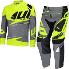 motocross pants and jersey combo ufo revolt race kit motocross pants jersey combo neon yellow grey