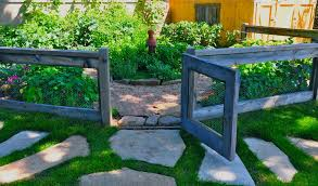 Fencing Ideas For Small Gardens Fence Ideas Landscape Eclectic With Enclosed Garden Enclosed