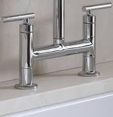 bridge faucet kitchen kohler k 7548 4 vs purist deck mount bridge faucet with sidespray