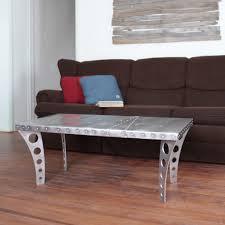 Aluminum Coffee Tables Brushed Finish Jetset Coffee Table Aluminum Ramonametal