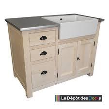 meuble cuisine evier integre meuble de cuisine 3 tiroirs et 1 placard évier intégré le dépôt