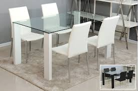 Modern Dining TablesManificent Decoration Modern White Dining - Modern glass dining room furniture