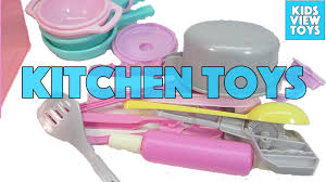 Plastic Toy Kitchen Set Kitchen Toys For Children Kids Kitchen Play Set Video Youtube