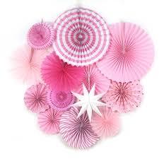 paper fan 13pc paper fan rosettes set photo backdrop paper pinwheel