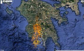 Lightning Maps πολύωρη καταιγίδα έπληξε όλο το βράδυ τη καλαμάτα και ολόκληρο το