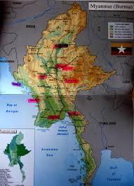 Irrawaddy River Map Myanmar