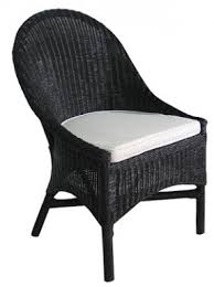 Outdoor Wicker Dining Chair Black Wicker Dining Chair Foter