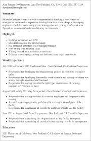 Resume Samples For Cleaning Job by Professional Custodial Supervisor Templates To Showcase Your