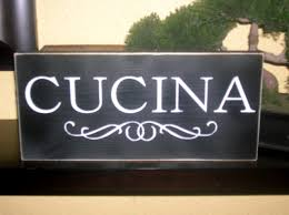 cucina wood sign wall hanging italian word for kitchen 10 00
