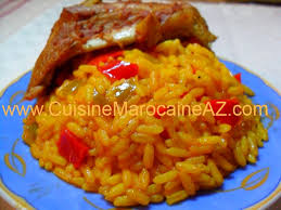 la cuisine de az riz safrané aux poivrons الأرز بالزعفران مع الفلفل recettes de