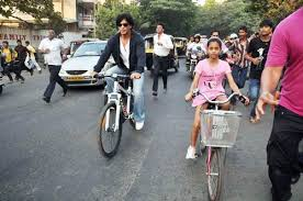 srk daughter go cycling photo2 india today