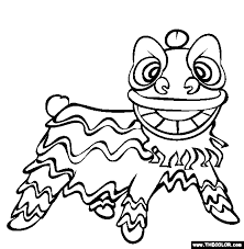 chinese lion coloring embroidery lions 100