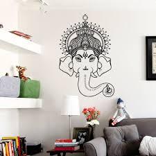 mandala tribal buddha elephant wall art sticker decal buddha
