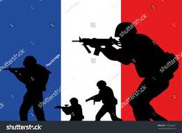 french flag silhouette soldiers stock vector 112262357 shutterstock