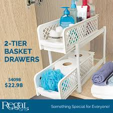 pull out baskets for bathroom cabinets 2 tier basket drawers from regal gifts organizes kitchen bathroom