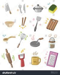Kitchen Utensils Cartoon Kitchen Utensils Stock Vector 66840298 Shutterstock