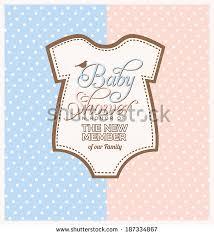 unisex baby shower unisex baby shower design template stock vector 187334867