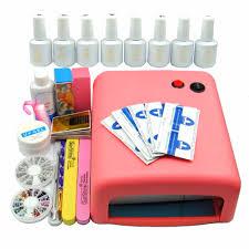 uv gel manicure kit with nail polishes cameleon nail polish