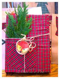 christmas plaid wrapping paper woodland fox and christmas plaid gift wrapping 2 bees in a pod