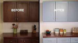 how to freshen up stained kitchen cabinets kilz how to refinish kitchen cabinets