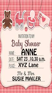 baby shower invitation maker android apps on play
