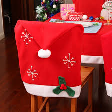 christmas chair covers christmas snowflake hat chair cover kitchen dinner seat back